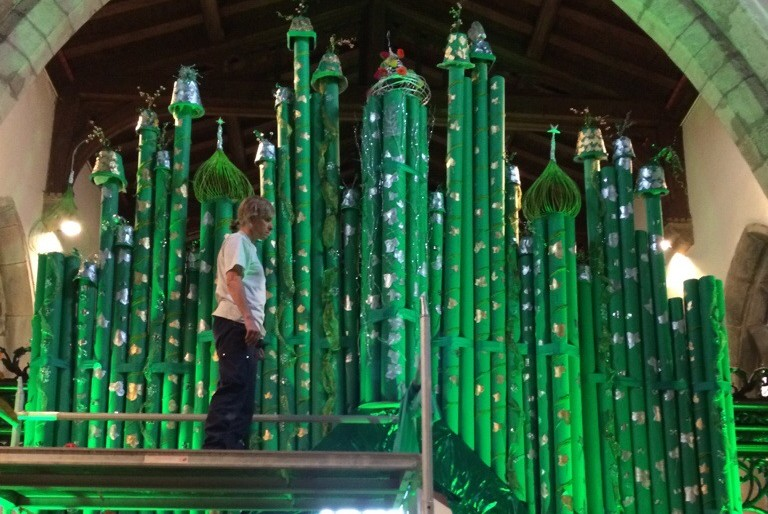 LED Uplighting at Pickering Flower Festival