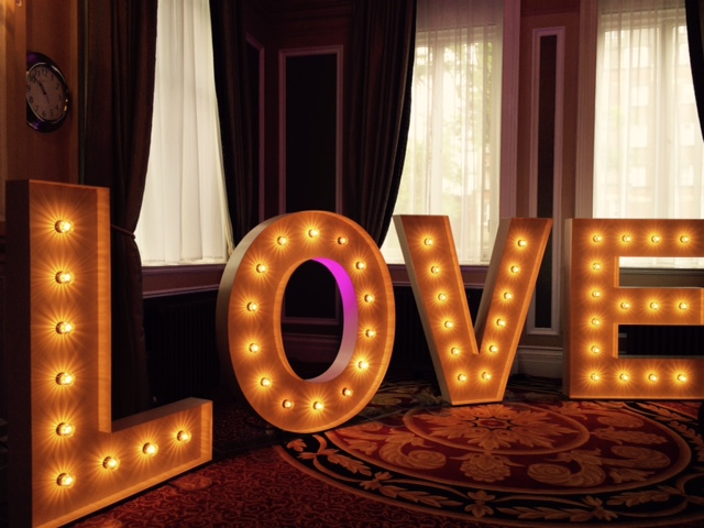 Light Up Love Letters Harrogate